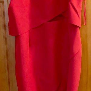 Elliatt Red cocktail dress with cutout